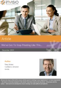 Article Meetings Tony Shone