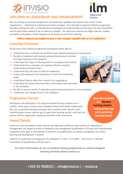 ILM Diploma in Leadership and Management
